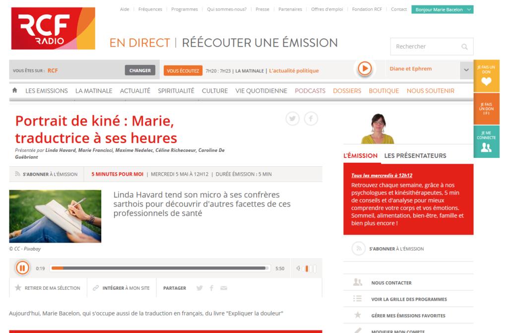 podcast RCF Sarthe