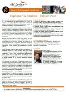 Expliquer la douleur Explain pain programme